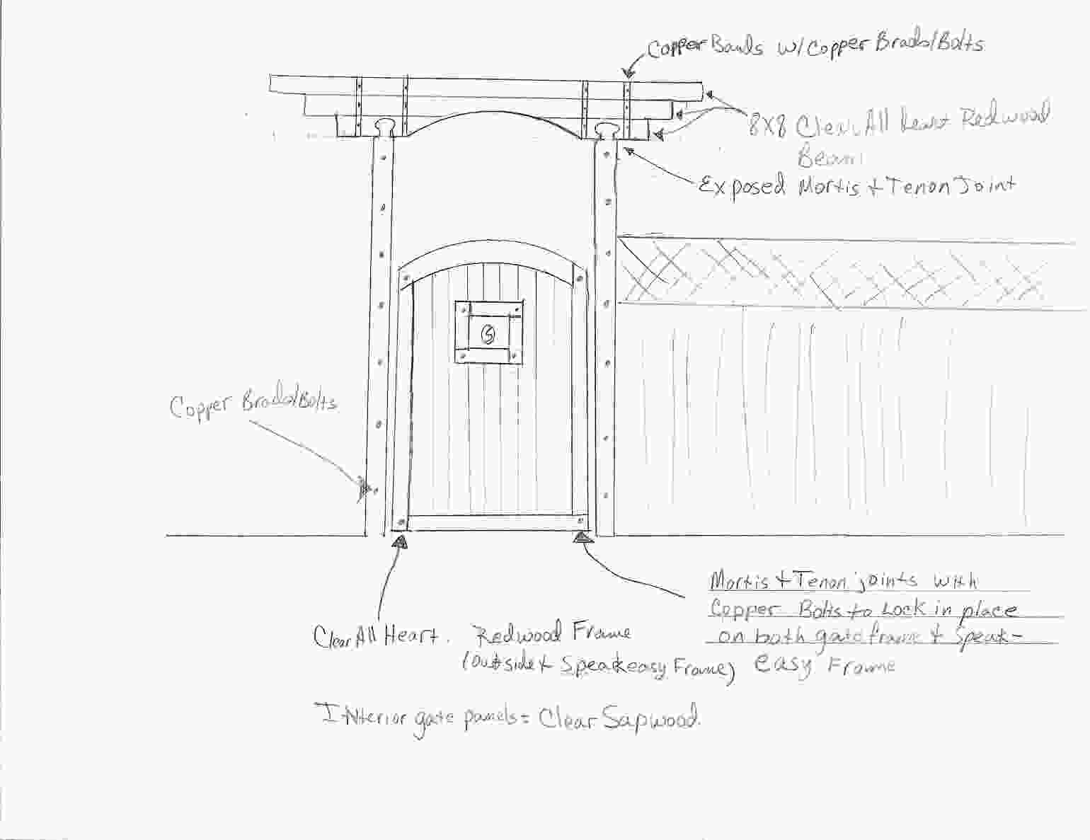 Garden Gate Design - sketch