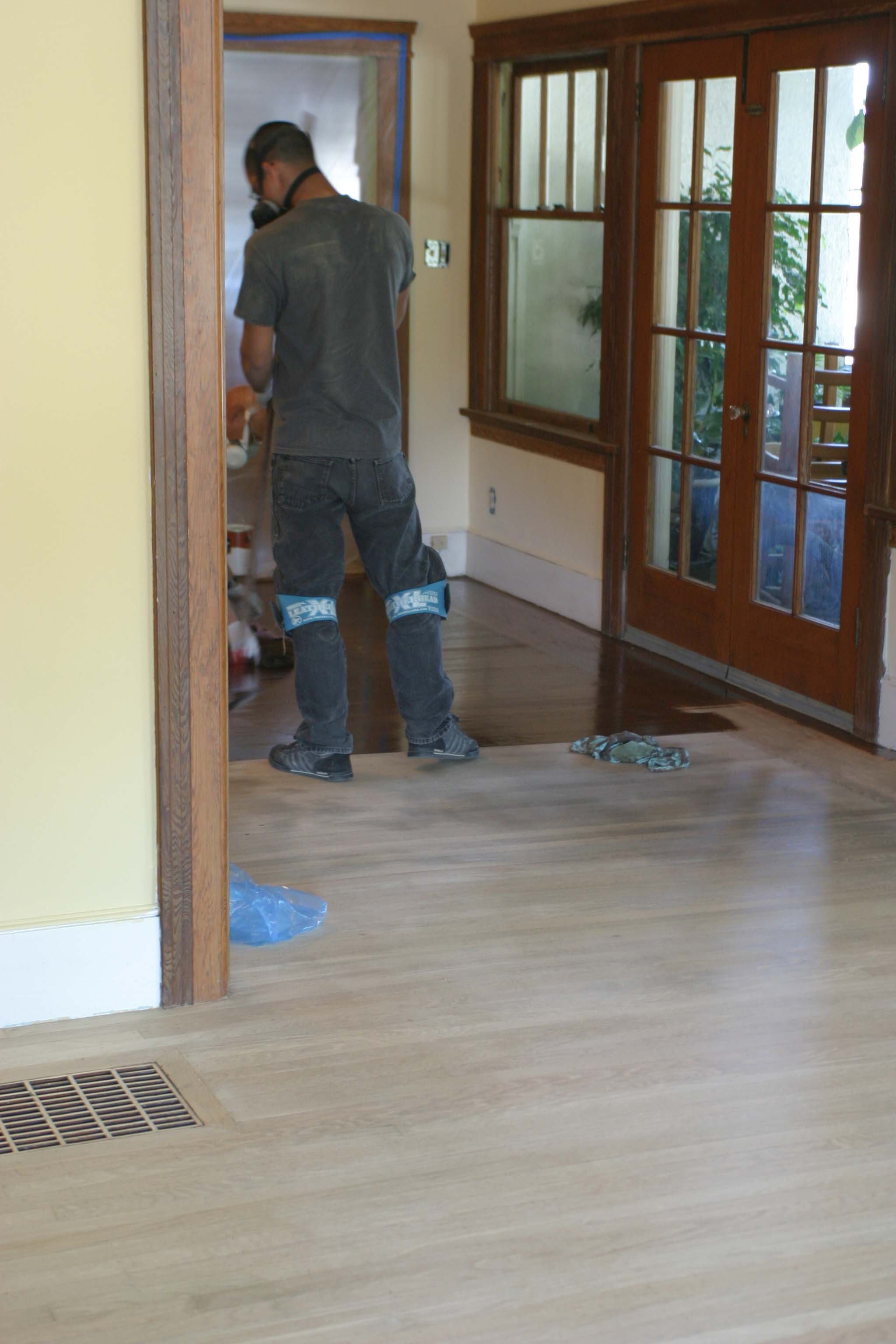 Floor Refinishing - Staining